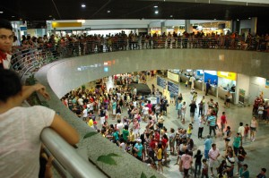 Torcida no Aeroporto de Fortaleza