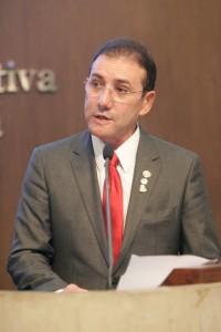 01 de abril de 2014. Sessao ordinaria na Assembleia legislativa do Ceara. Na foto, Adail Carneiro assume o lugar da ex deputada Patricia Saboya na Assembleia Legislativa do Ceara.