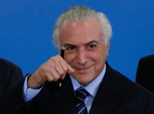 Presidente Michel Temer participa da cerimonia de Sanção da Lei Modesrnização Trabalhista.  Brasilia, 13-07-2017Foto: Sérgio Lima/PODER 360