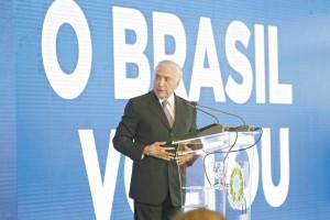 15 de Maio de 2018 - Presidente Michel Temer faz balanÁo dos dois anos de governo, durante o evento O Brasil Voltou, no Pal·cio do Planalto.  - NACIONAL - 16NA1074  -  FABIO RODRIGUES POZZEBOM/AGÍNCI